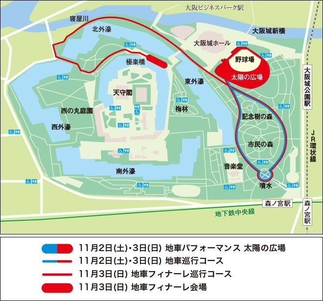 だんじり巡行MAP